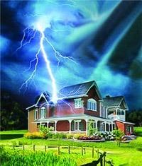 Молниезащита зданий, молниеприемник г.Новоалтайск